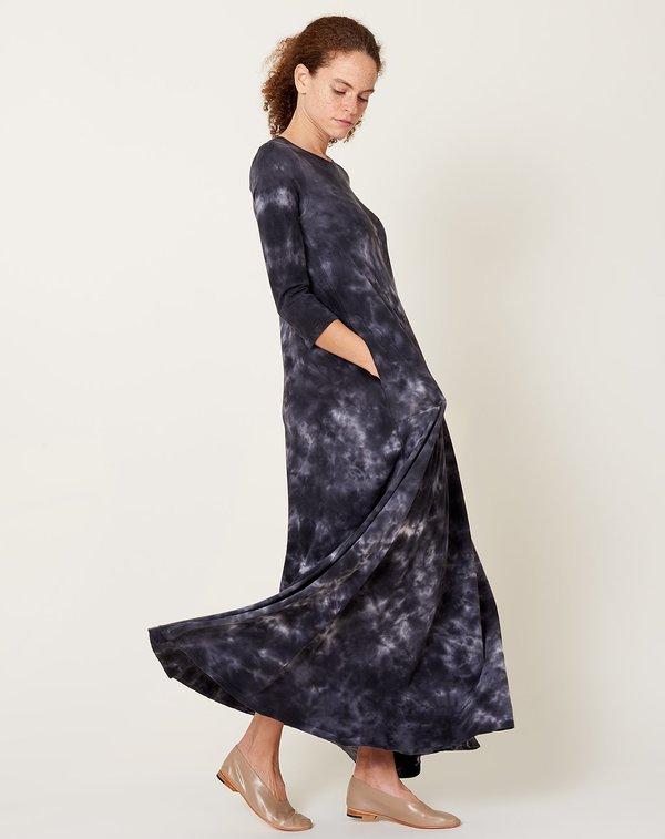 Raquel Allegra Drama Maxi - Black Camo Tie Dye