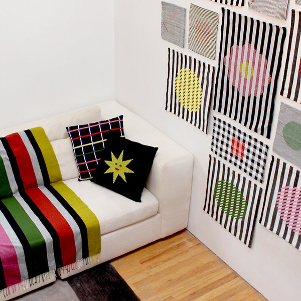 DITTOHOUSE Grid Pillow - Black