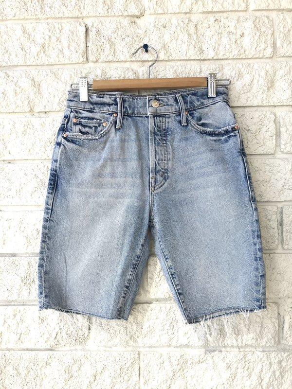 Mother Denim THE TRICKSTER FRAY SHORT - WIN SOME LOSE SOME