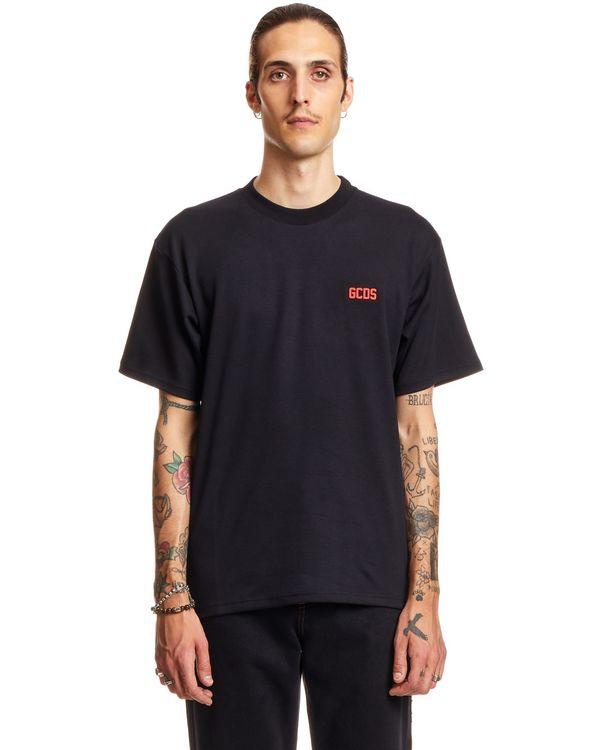 GCDS Rubberized Logo T-shirt - black
