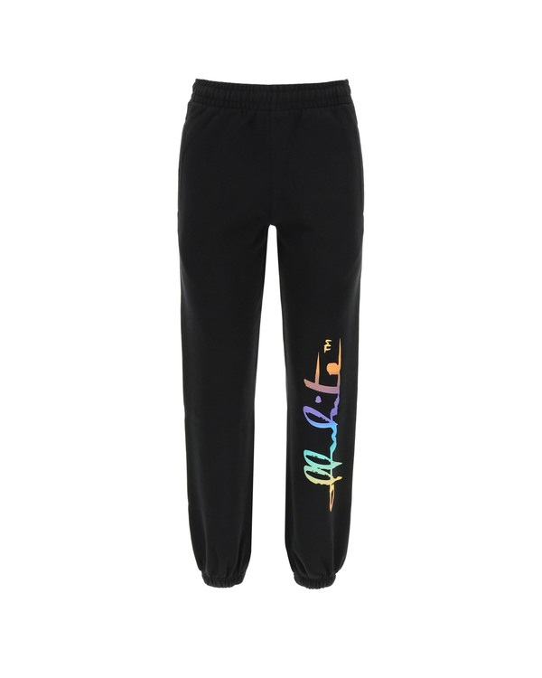 Off-White Rainbow Logo Jogging Trousers - black