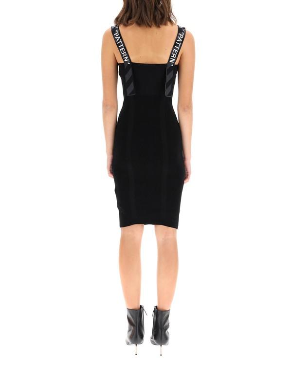 Off-White Knit Midi Dress - black
