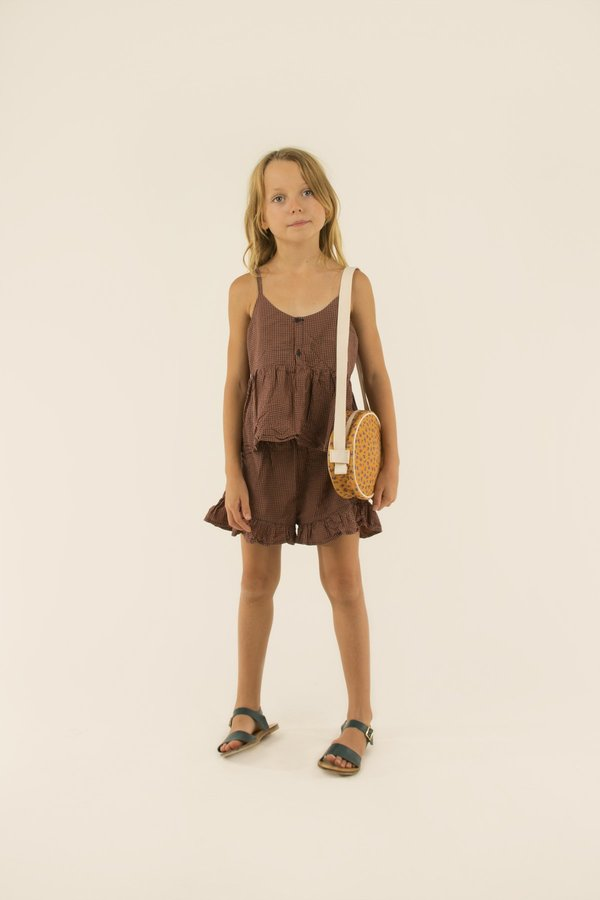 Kids Tinycottons Check Straps Blouse