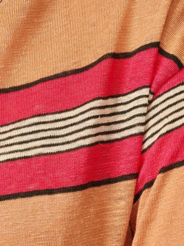 Bellerose Senia Stripe Top - Pink/Ginger