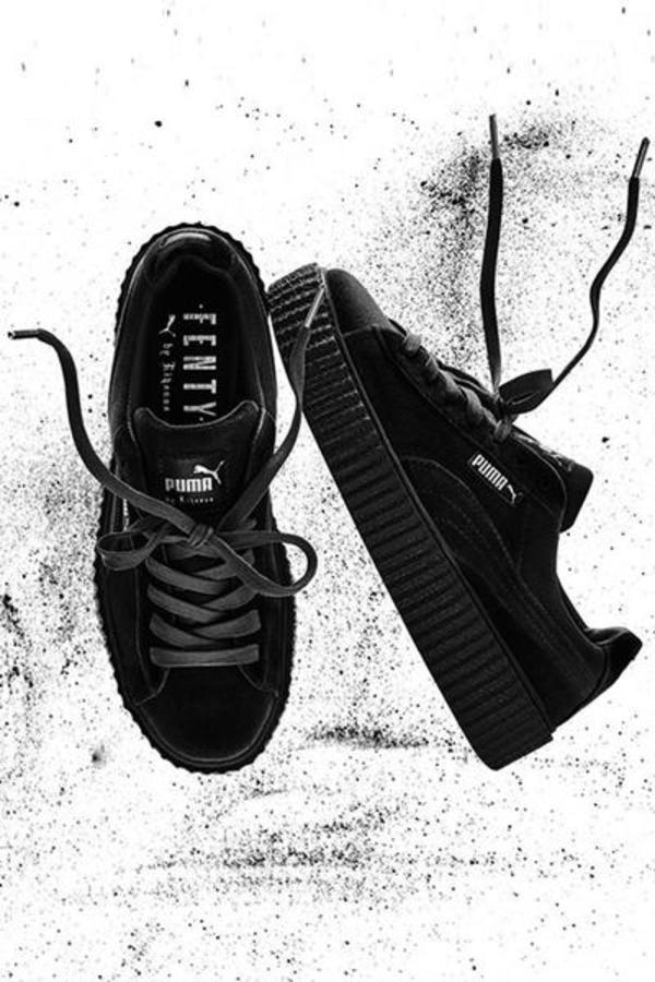 best service b8d76 cde3b PUMA Rihanna Fenty Velvet Women's Creeper- Black on Garmentory