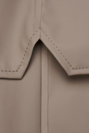 Rains Short Hooded Popper Jacket - Taupe