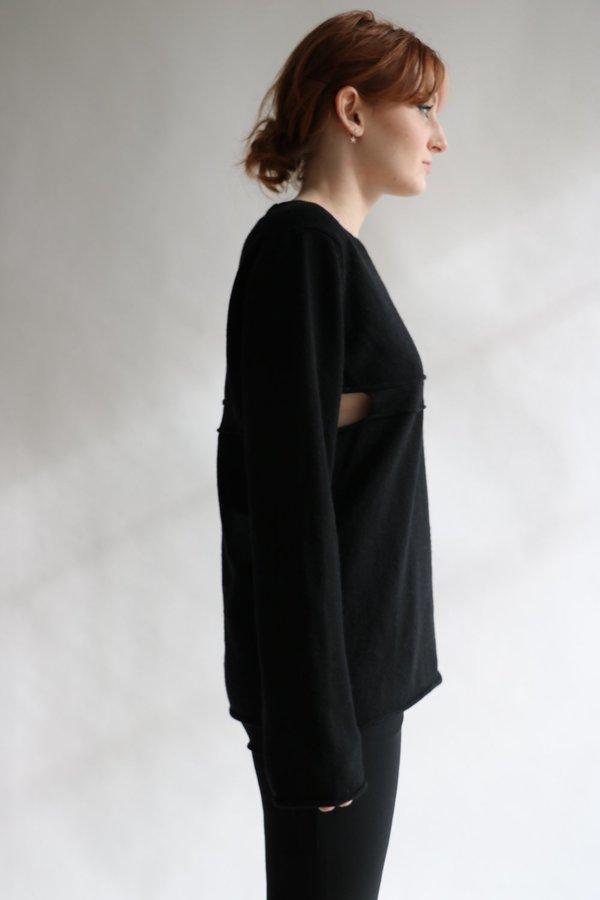Comme des Garcons SHIRT Cutout Sweater, Size M