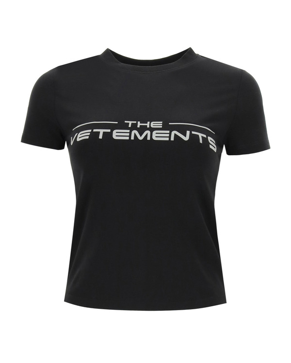 Vetements t shirt with reflective logo