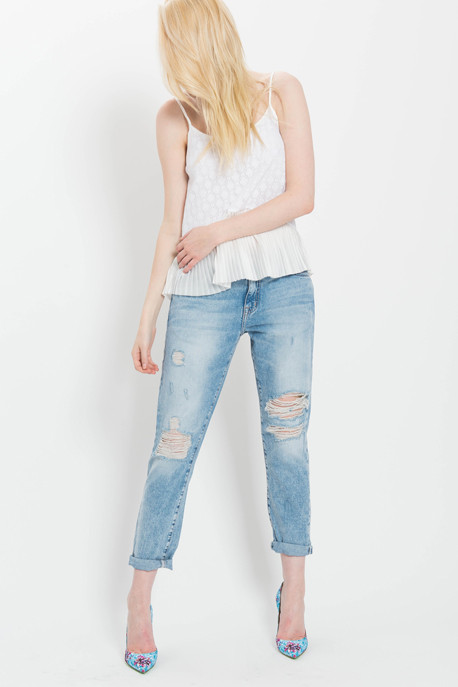 Pleated Lace Cami