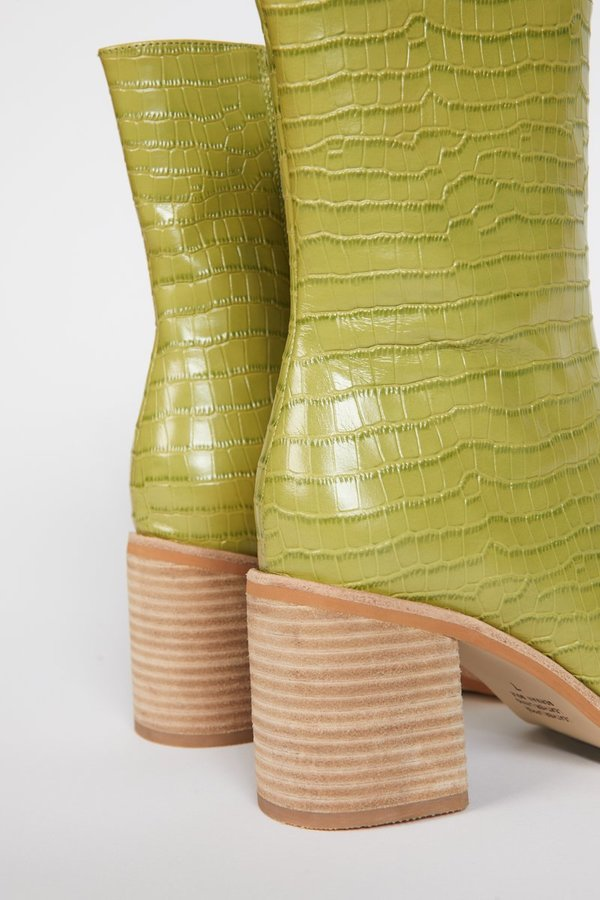"""""""INTENTIONALLY __________."""" Contour Boots - Apple Green"""