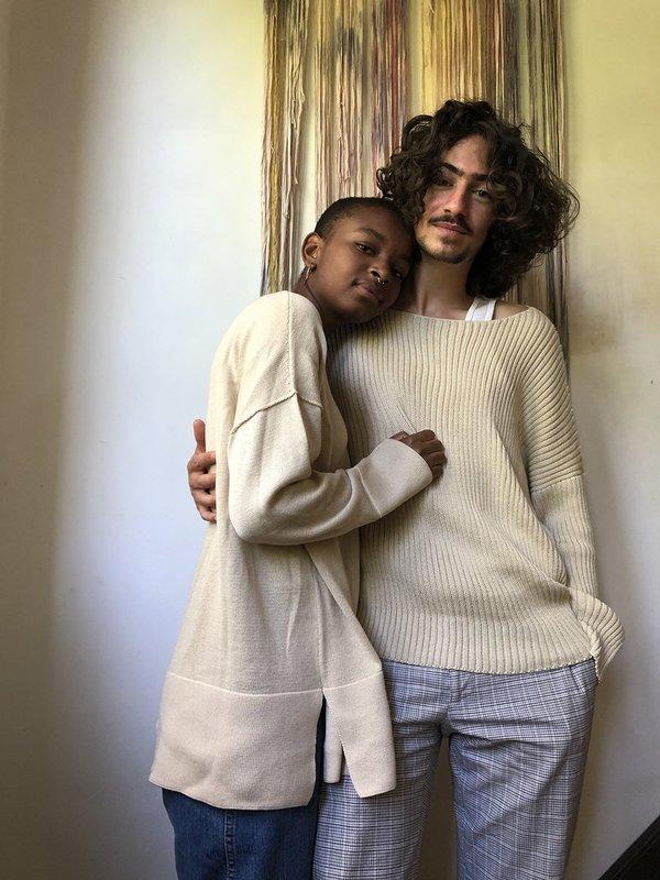 Erica Tanov ribbed cotton pullover - natural