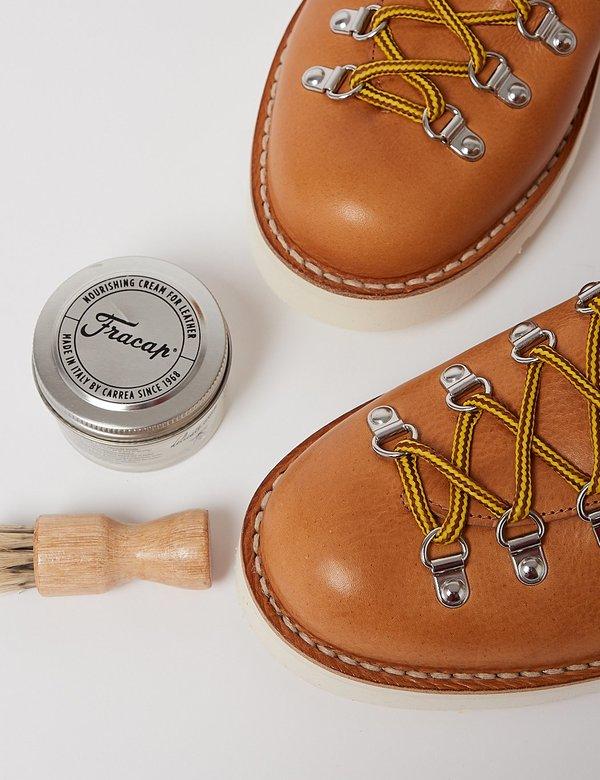 Fracap M120 Cristy Vibram Sole Scarponcino Boot - Tan/White