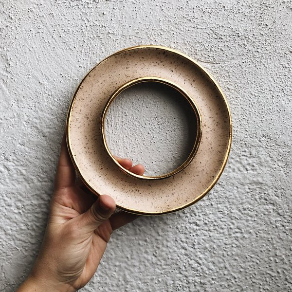 The Object Enthusiast Speckled Donut - Golden