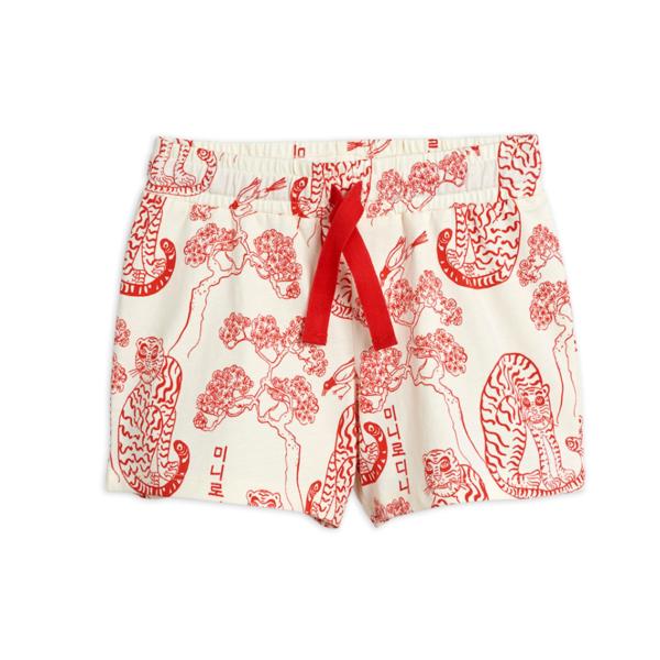 kids Mini Rodini Tigers Shorts - Red
