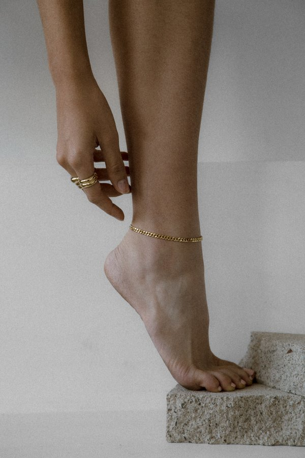 Young Frankk Zadie Chain Anklet - Gold