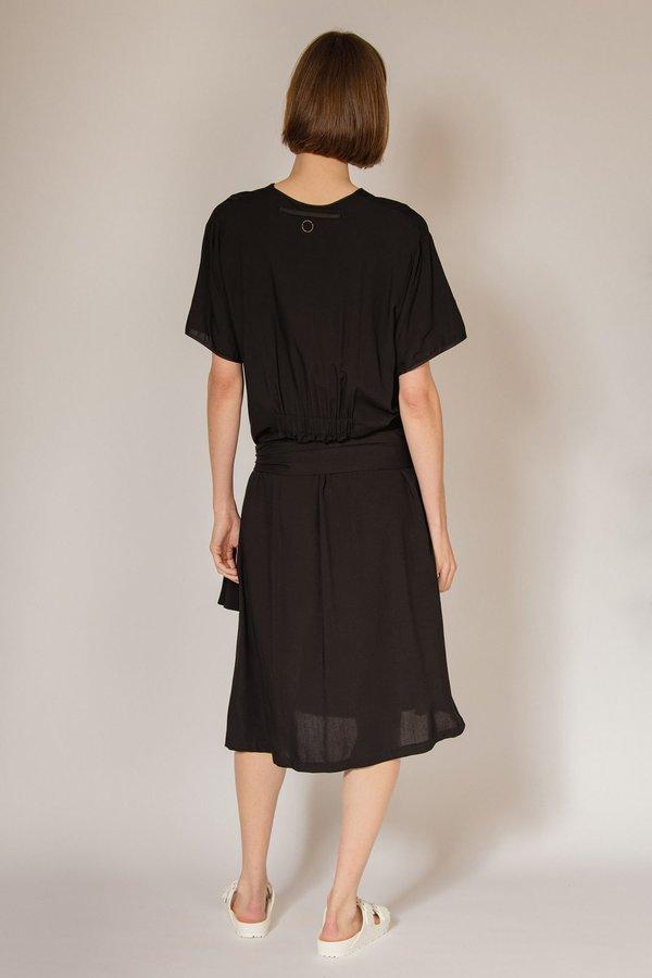 Oyuna Elna Woven Floaty Maxi Dress - Obsidian