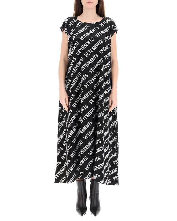 Vetements Long Monogram Dress - Multicolor