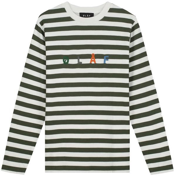 Olaf Stripe Sans Long Sleeve - Sage/White