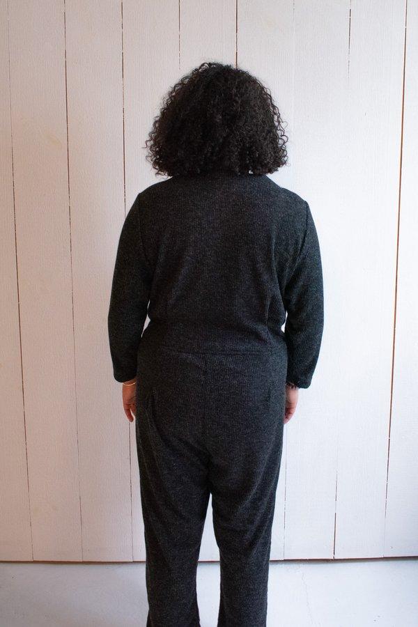 Conrado Emily Ribbed Sweater Coveralls - Dark Grey