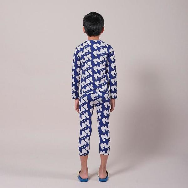 kids Bobo Choses Play Print Swim Leggings - Blue