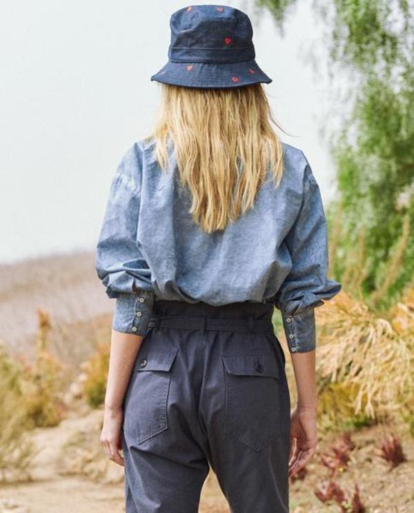 The Great. The Forage Top - Indigo Fog Wash