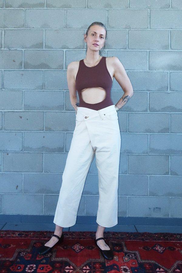 Caron Callahan Carson Jeans - Cream Canvas