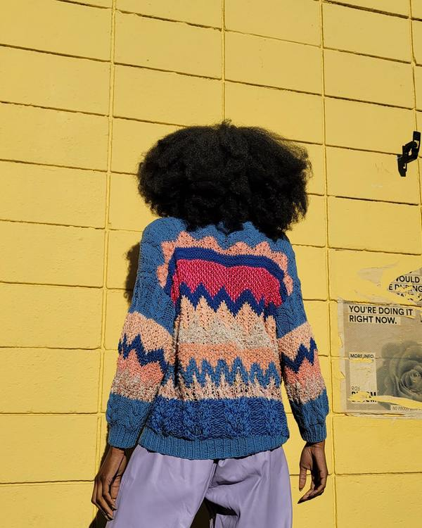 Vintage Handknit Pastels Sweater