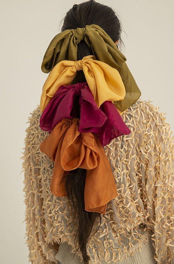 Studio Mish Mish Long Botanical Dyed Silk Scarf