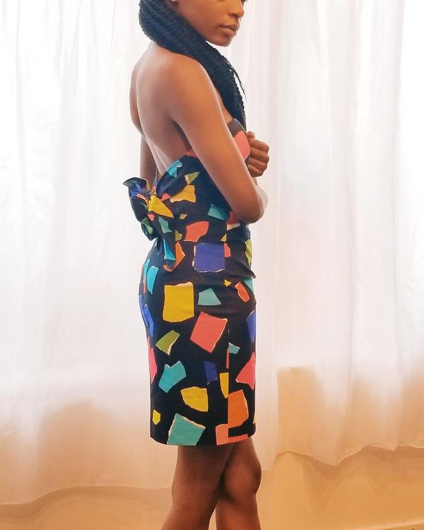Vintage Moschino Couture Bustier Dress
