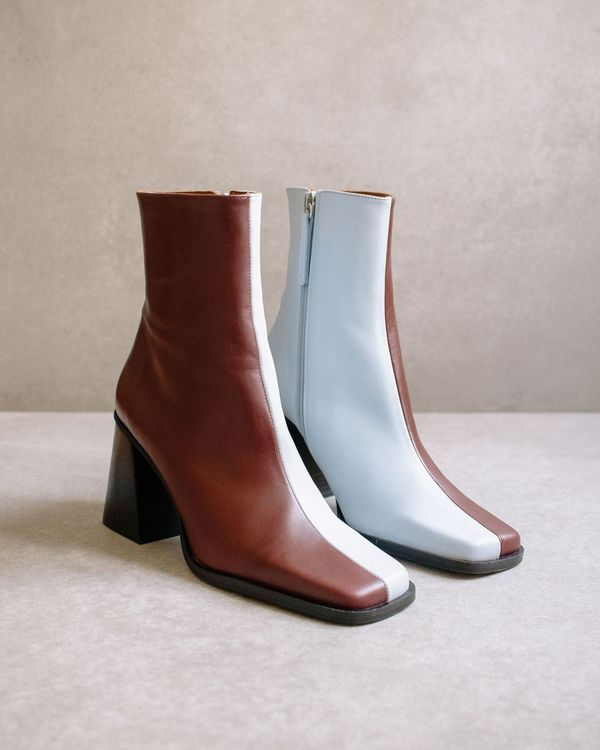 Alohas South Bicolor Boot - Blue/Dark Burgundy