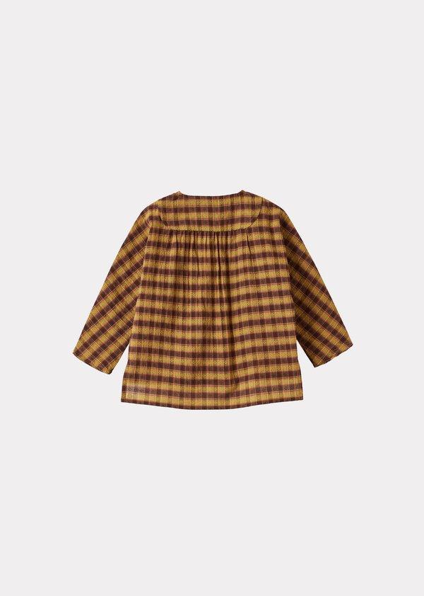 Kids Caramel Dragonet Baby Shirt - Mustard Check