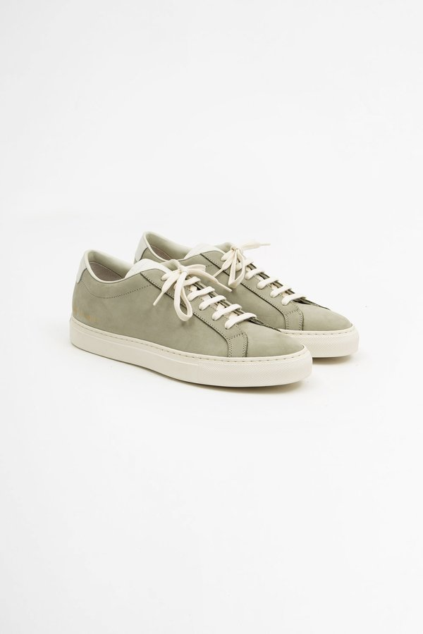 Common Projects Achilles Low - Nubuck Olive
