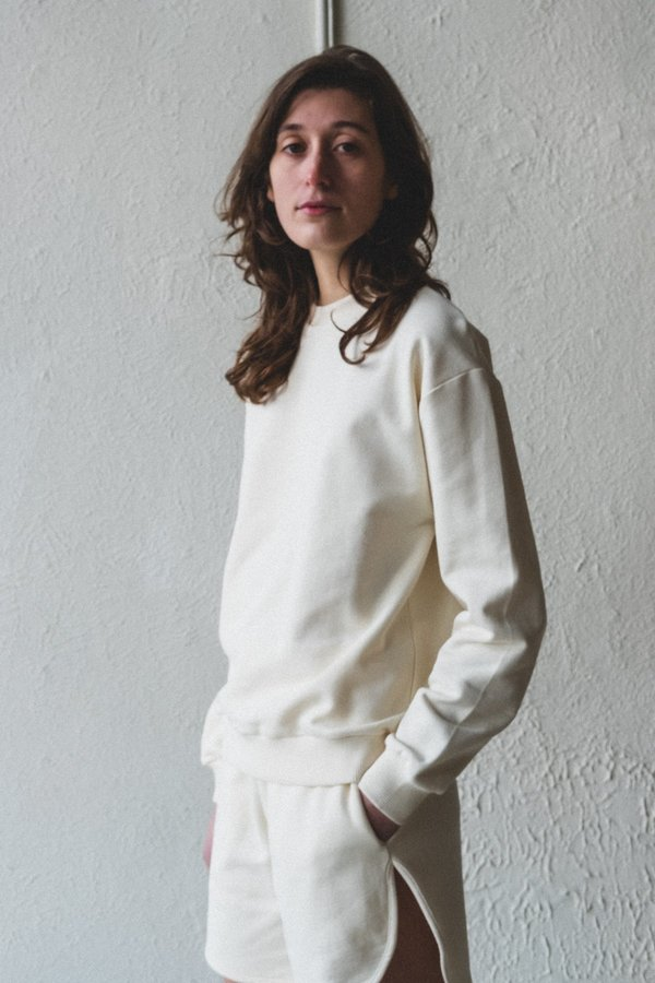 Baserange Italian Fleece Loose Sweatshirt - Off White
