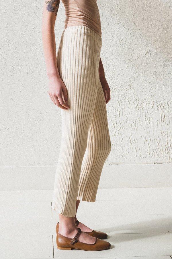 Baserange Maru Organic Cotton Rib Pants - Natural