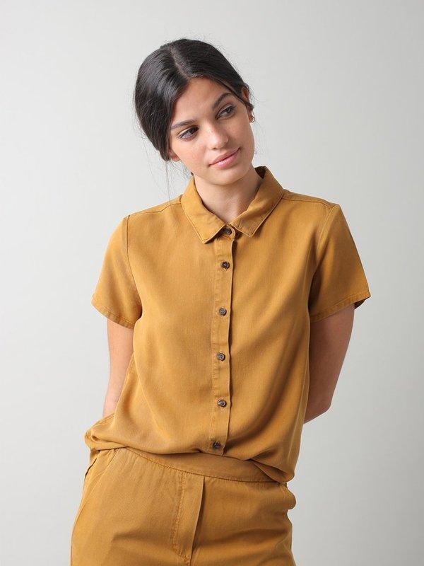 Indi & Cold Daisy Lyocell Shirt - Amber