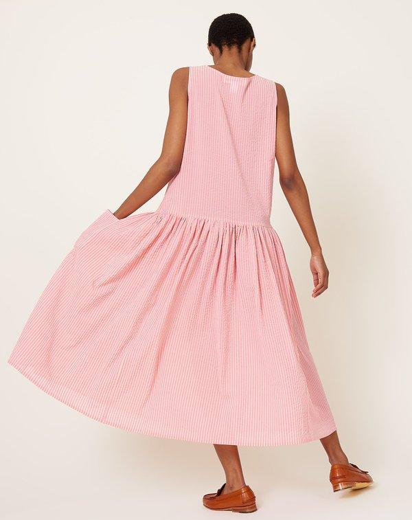 Caron Callahan Myrtle Dress - Pink Gauze Stripe