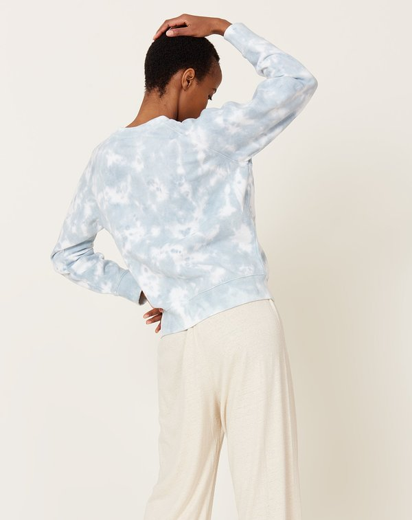 Richer Poorer Recycled Crew Sweatshirt - Blue Mirage Tie Dye