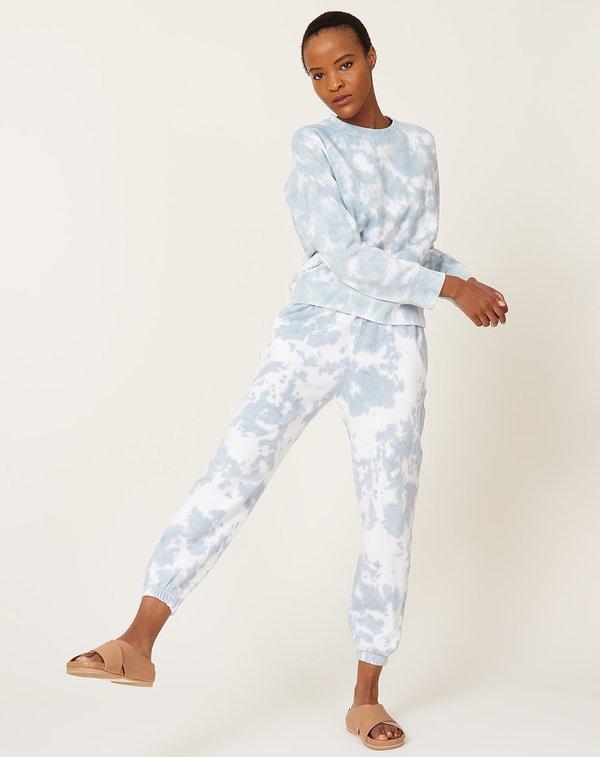 Richer Poorer Recycled Fleece Sweatpant - Blue Mirage Tie Dye