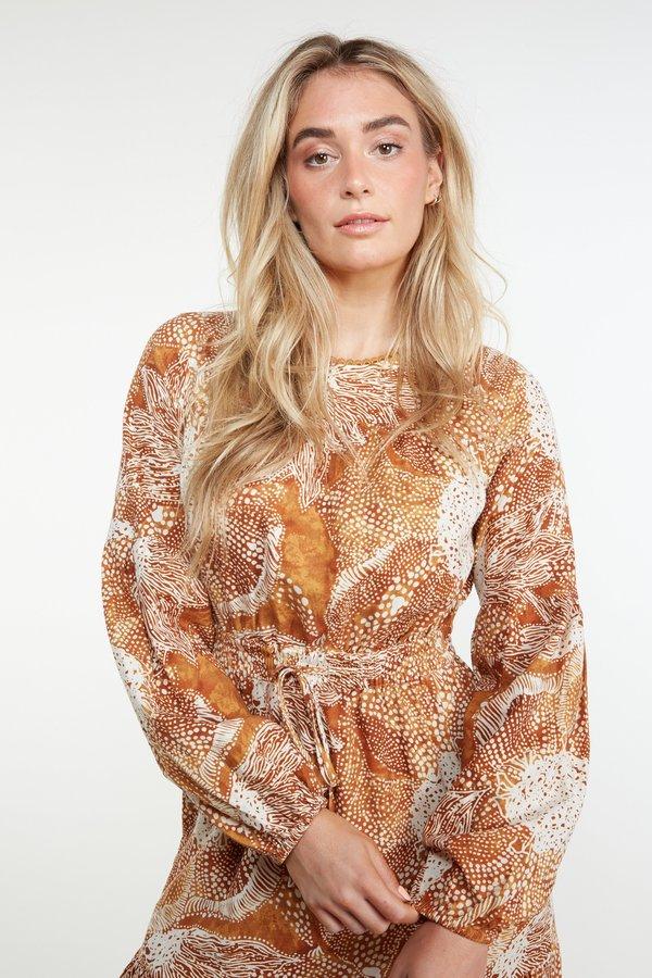 THE ODELLS Annalise Maxi Dress - Brick Multi