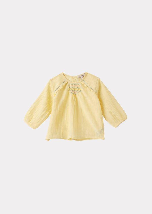 kids Caramel Krill Baby Blouse - Yellow