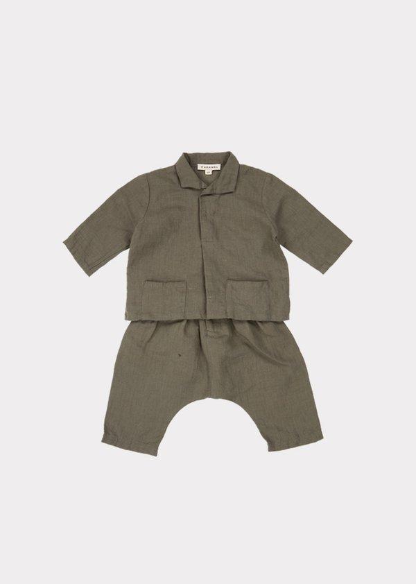 Manta Ray Baby Set, Dark Olive