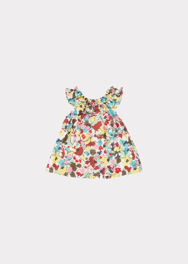 kids Caramel Mulloway Baby Dress - Painted Flower