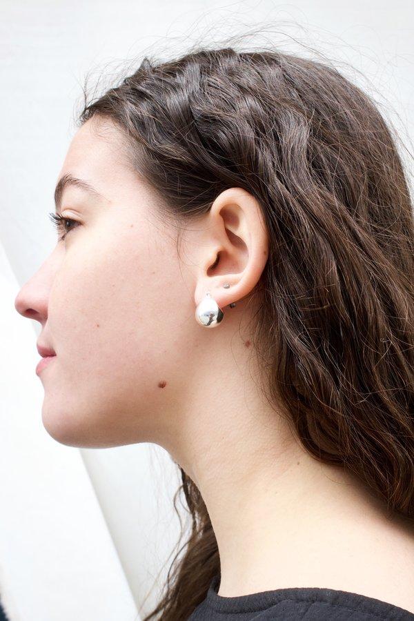Rachel Comey Baby Keel Hoop - Silver
