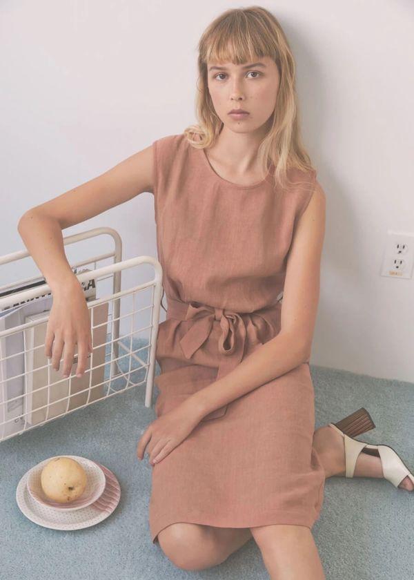 Eve Gravel Paloma Dress - Blush
