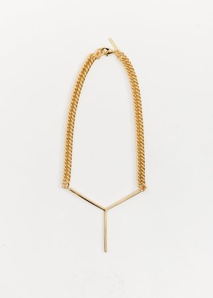 Y/project Maxi Y Necklace - Gold