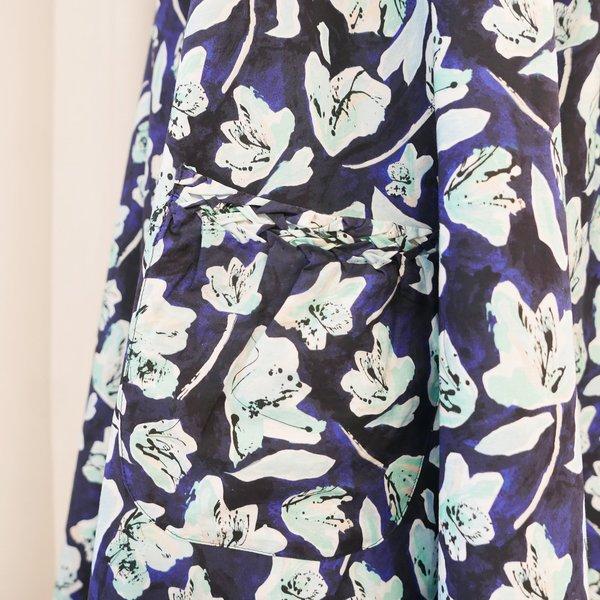 Merlette Akumal Dress - Blue Floral