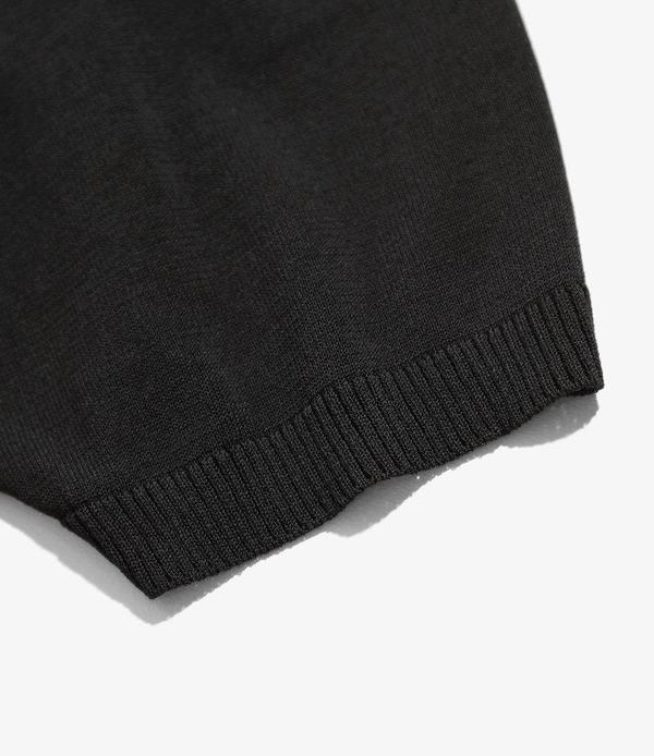 Needles Short Sleeve Polo Sweater - Black