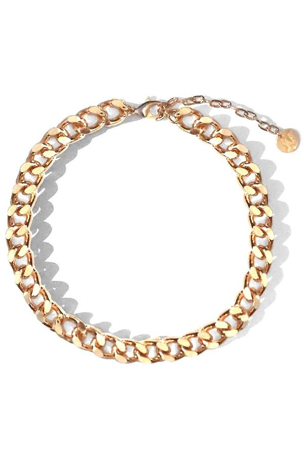 Young Frankk Rainier Chain Choker - 24 Gold plated recycled brass