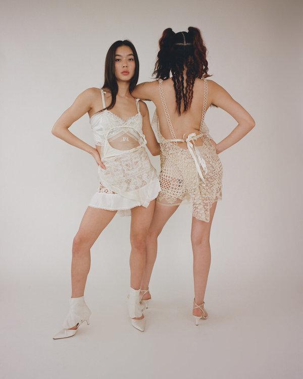 Sydney Pimbley Suspender Dress - Beige
