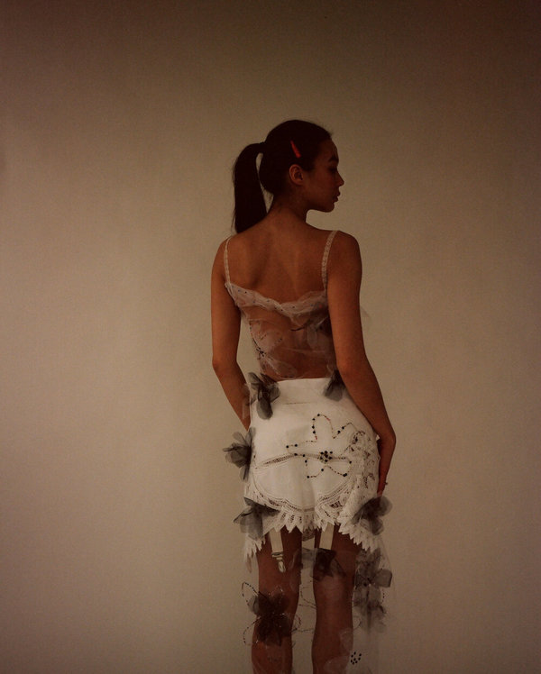 Sydney Pimbley Doily Suspender Skirt 21'